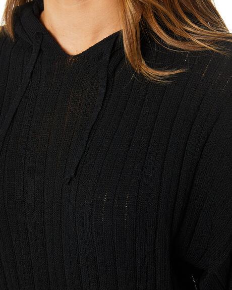 BLACK WOMENS CLOTHING SNDYS HOODIES + SWEATS - SFK028BLK