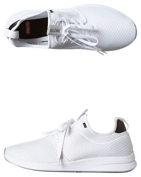 WHITE WHITE MENS FOOTWEAR GLOBE SNEAKERS - GBDART-11058
