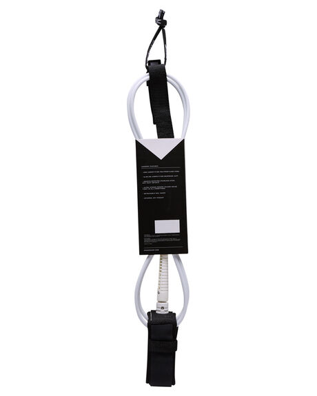 WHITE BLACK SURF HARDWARE MODOM LEASHES - 20186FTCOMWBWHBLK
