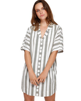 ARMY DRAB WOMENS CLOTHING RVCA DRESSES - RV-R491751-A90