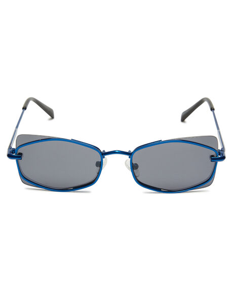 ELECTRIC BLUE METAL WOMENS ACCESSORIES KENDALL AND KYLIE SUNGLASSES - KK4041G-434EBM