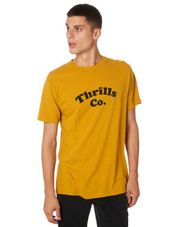 SUNLIGHT YELLOW OUTLET MENS THRILLS TEES - TH9-127KSNYEL