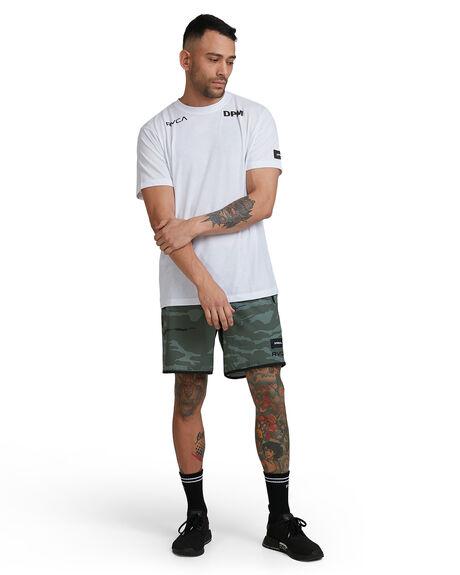 WHITE MENS CLOTHING RVCA TEES - RV-R305054-WHT