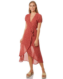 PRINT WOMENS CLOTHING LULU AND ROSE DRESSES - LU23823PRNT