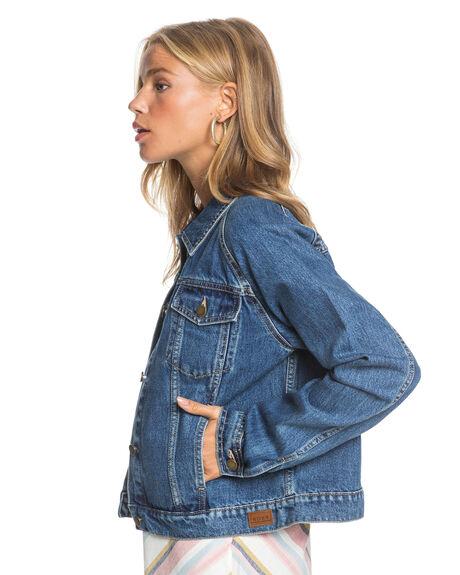 MEDIUM BLUE WOMENS CLOTHING ROXY JACKETS - ERJJK03391-BMTW