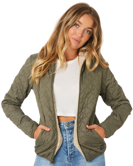 OLIVE WOMENS CLOTHING RIP CURL JACKETS - GJKBE40058