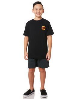 BLACK KIDS BOYS SANTA CRUZ TOPS - SC-YTA9190BLK