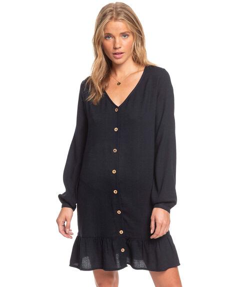 ANTHRACITE WOMENS CLOTHING ROXY DRESSES - ERJWD03477-KVJ0