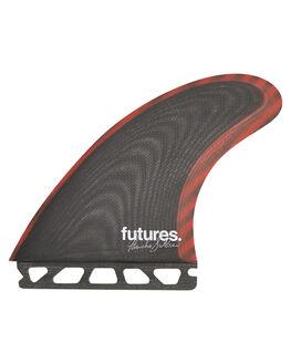 BLACK RED SURF HARDWARE FUTURE FINS FINS - FPS-010247BLKR