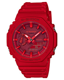 RED MENS ACCESSORIES G SHOCK WATCHES - GA2100-4ARED