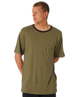 VINTAGE GREEN MENS CLOTHING VOLCOM TEES - A01118R2VYG