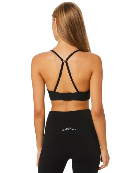 BLACK WOMENS CLOTHING LORNA JANE ACTIVEWEAR - LB0128BLK