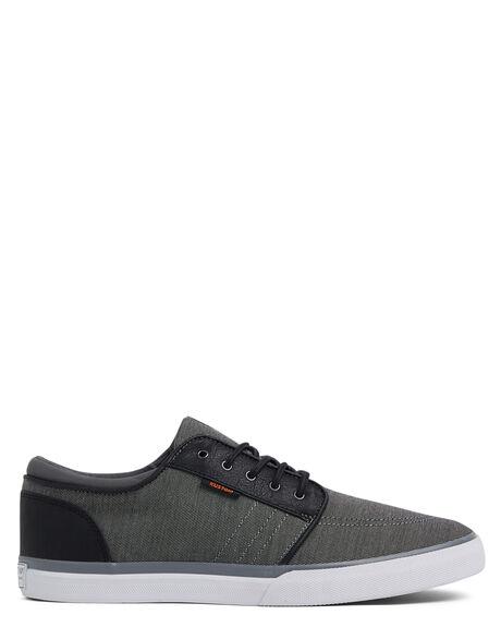GREY BLACK MENS FOOTWEAR KUSTOM SNEAKERS - KS-4994107-G94