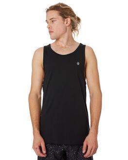 BLACK MENS CLOTHING VOLCOM SINGLETS - A0241575BLK