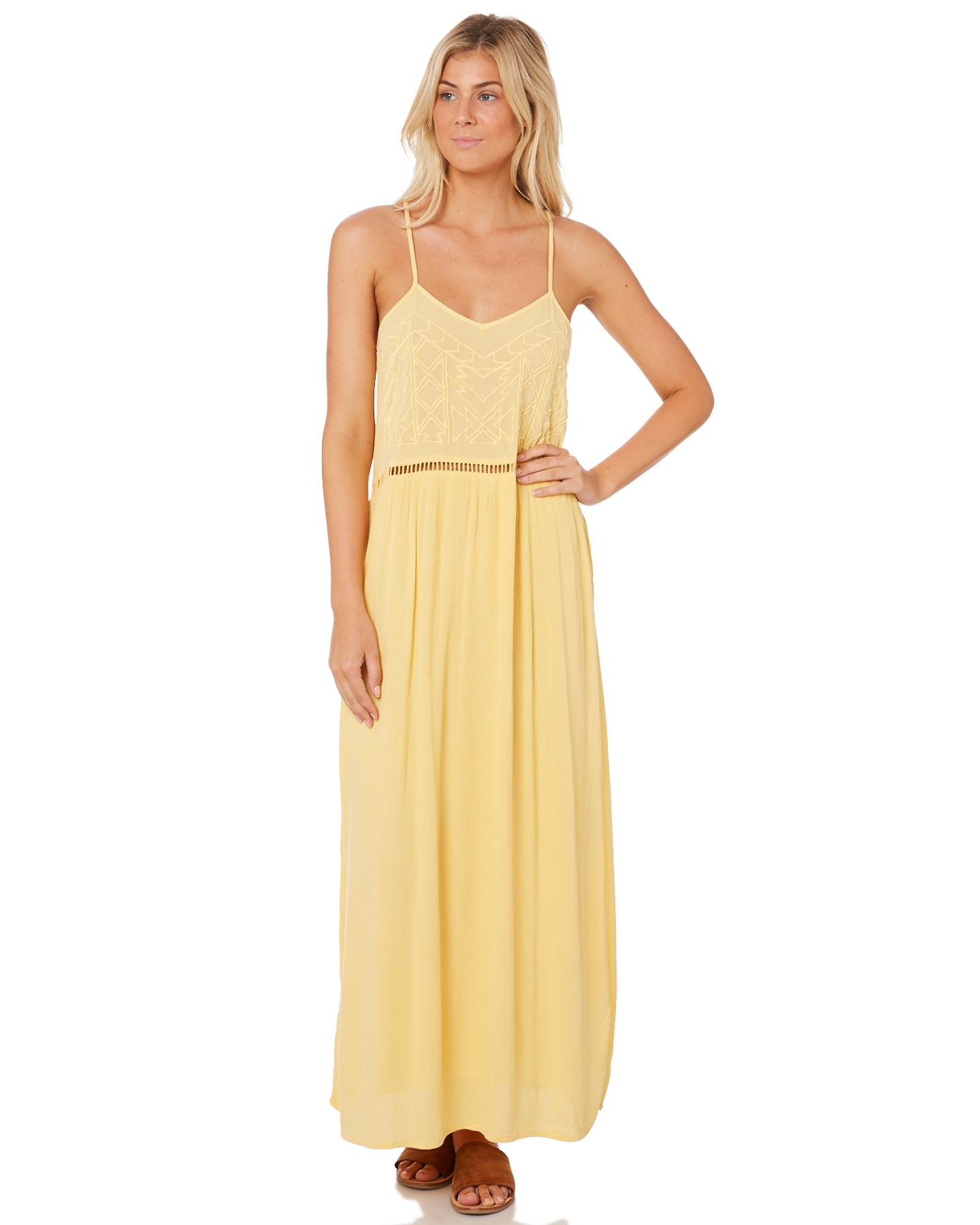 9f322c7eaa Rip Curl Larni Maxi Dress - Light Yellow | SurfStitch