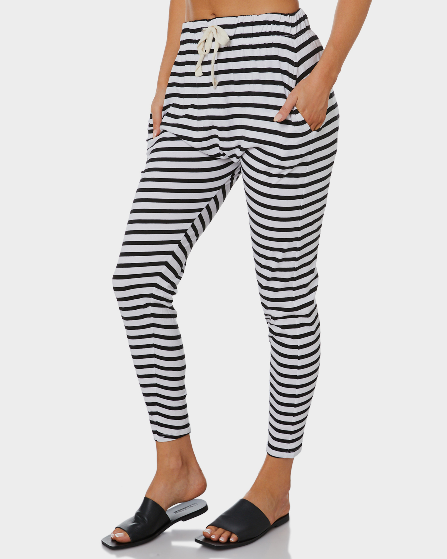 59d2dc030c67f Silent Theory Fluid Womens Pant - Black And White | SurfStitch