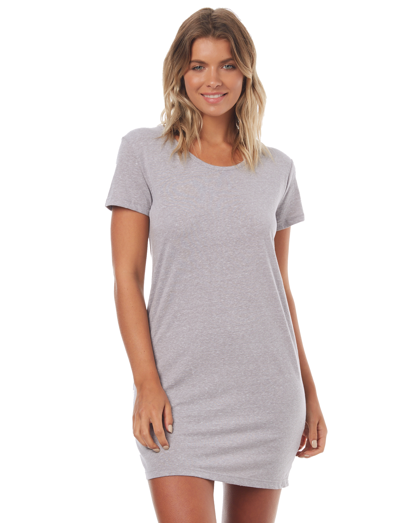 2fc8ceea4cf Roxy Womens Just Simple Solid T Shirt Dress - Heritage Heather ...