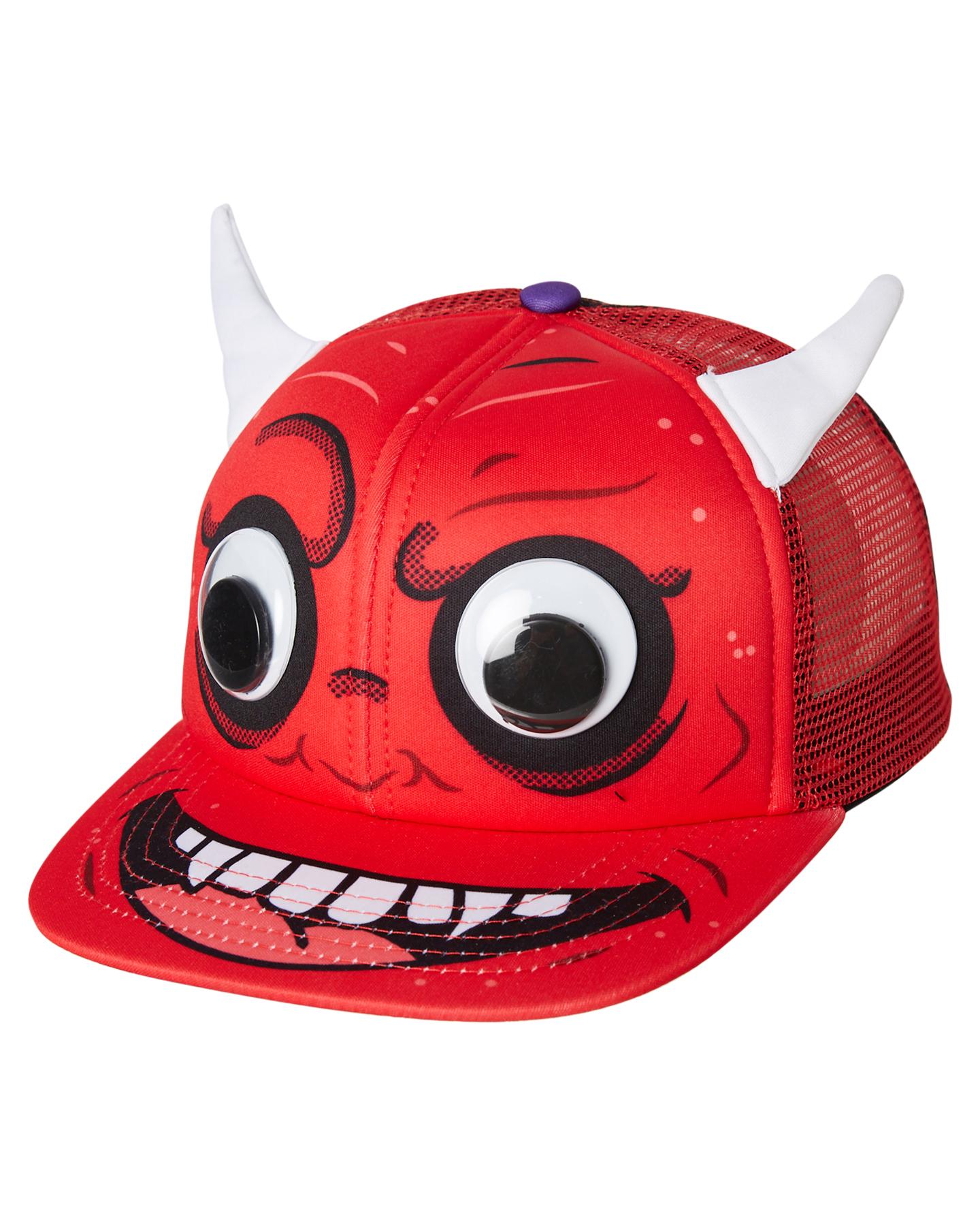 Rusty Tots Boys Little Devils Trucker Cap - Carmine  0306e282c6df