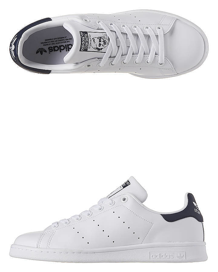 WHITE WHITE NAVY MENS FOOTWEAR ADIDAS ORIGINALS SNEAKERS - SSM20325WHIM ...