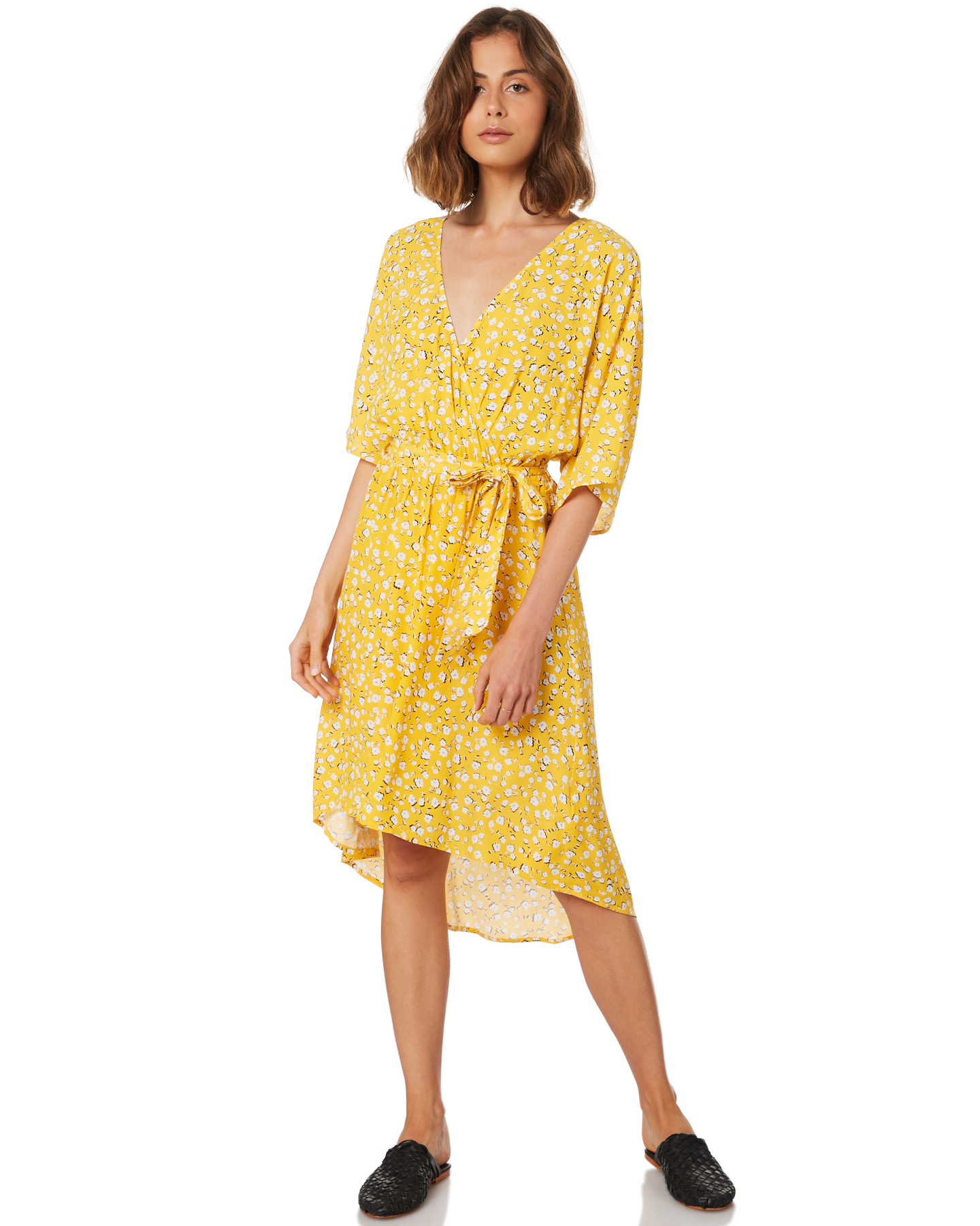 3604f24c2308 Minkpink Roses Are Red Ditty Midi Dress - Golden Yellow