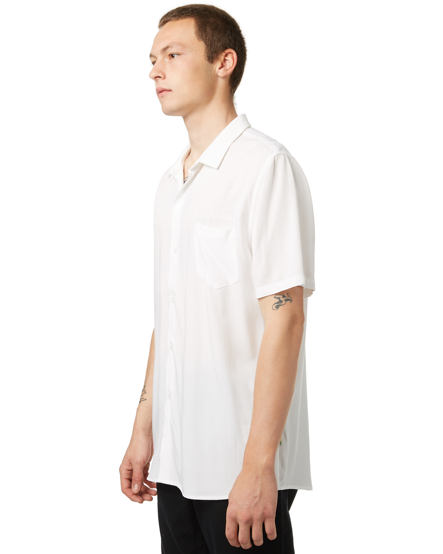 Not Clothing But Makeup Is Just As Important To Finish A: No News Kingston Ss Mens Shirt - Not White