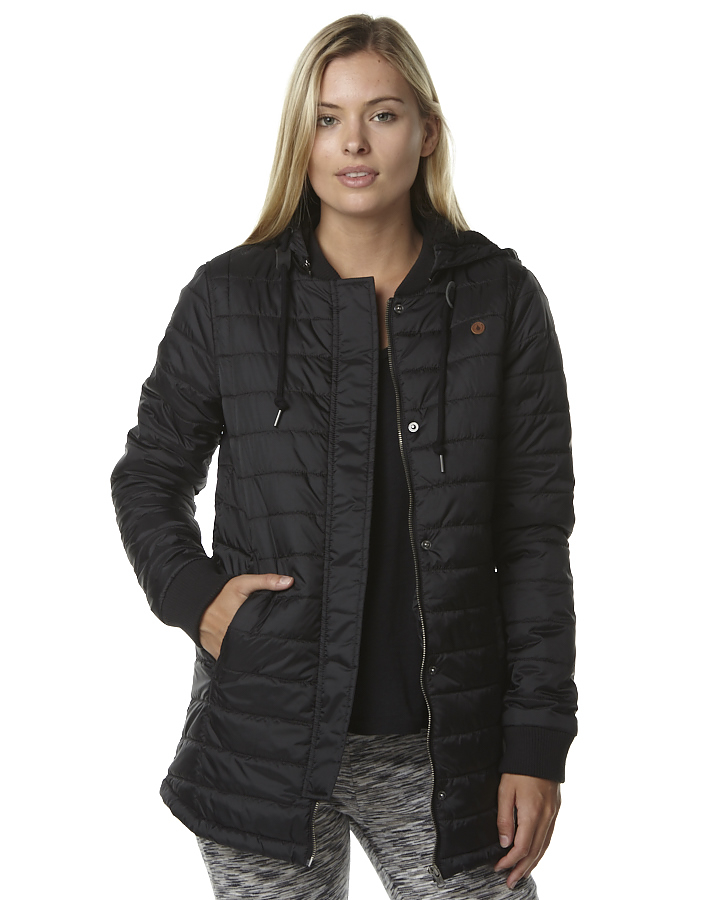 Volcom Drifter Quilted Womens Jacket - Black | SurfStitch | SurfStitch