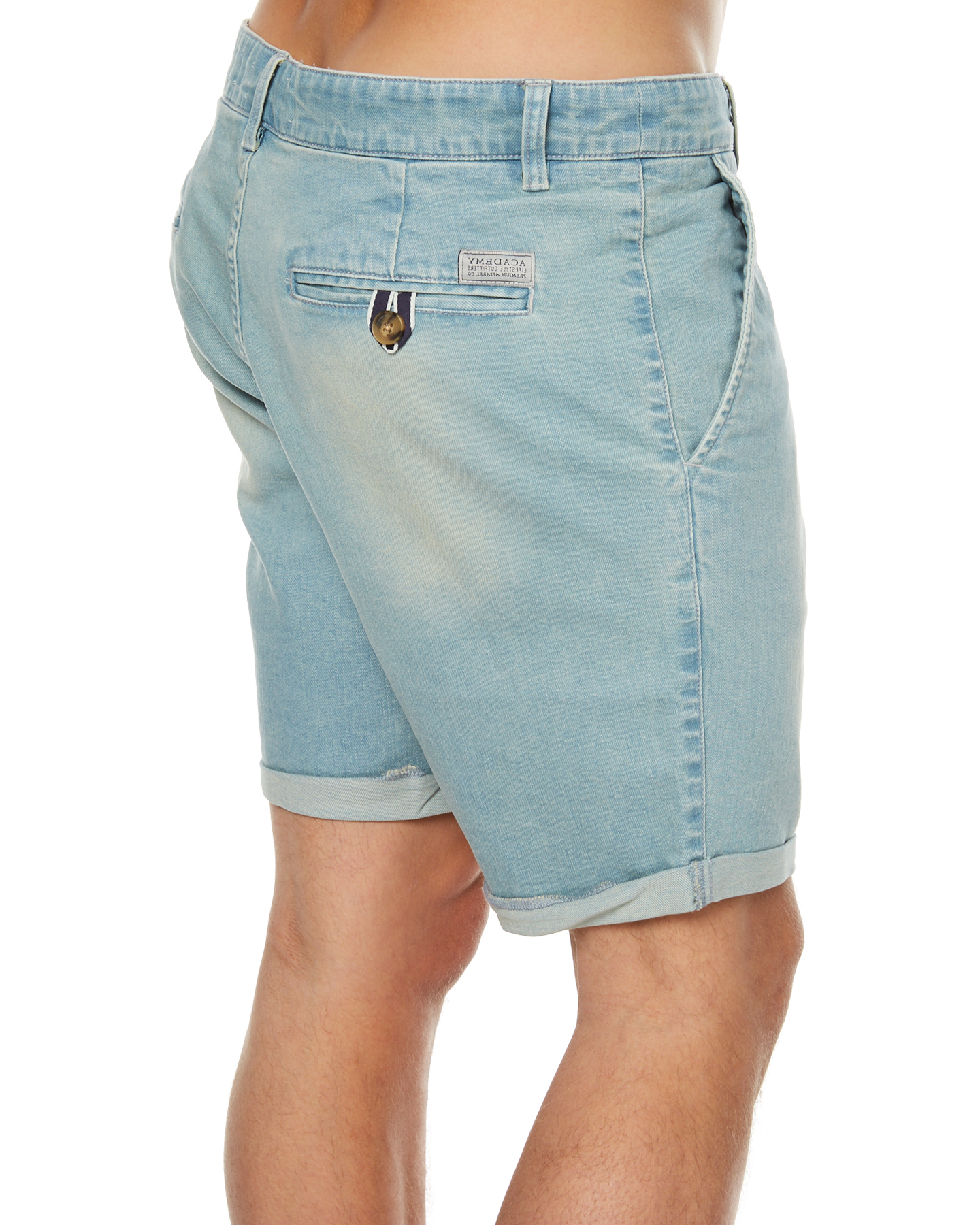 Academy Brand Brooklyn Mens Denim Short - Light Blue | SurfStitch