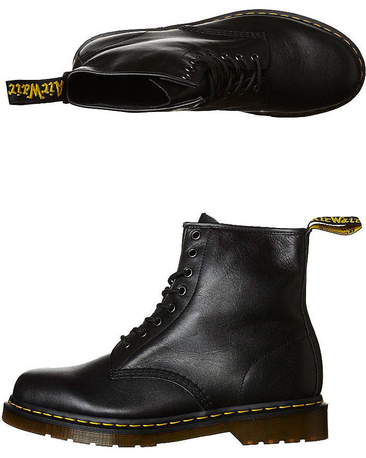 Dr. Martens Men's 1460 8 Eye Smooth Leather Boots in Black