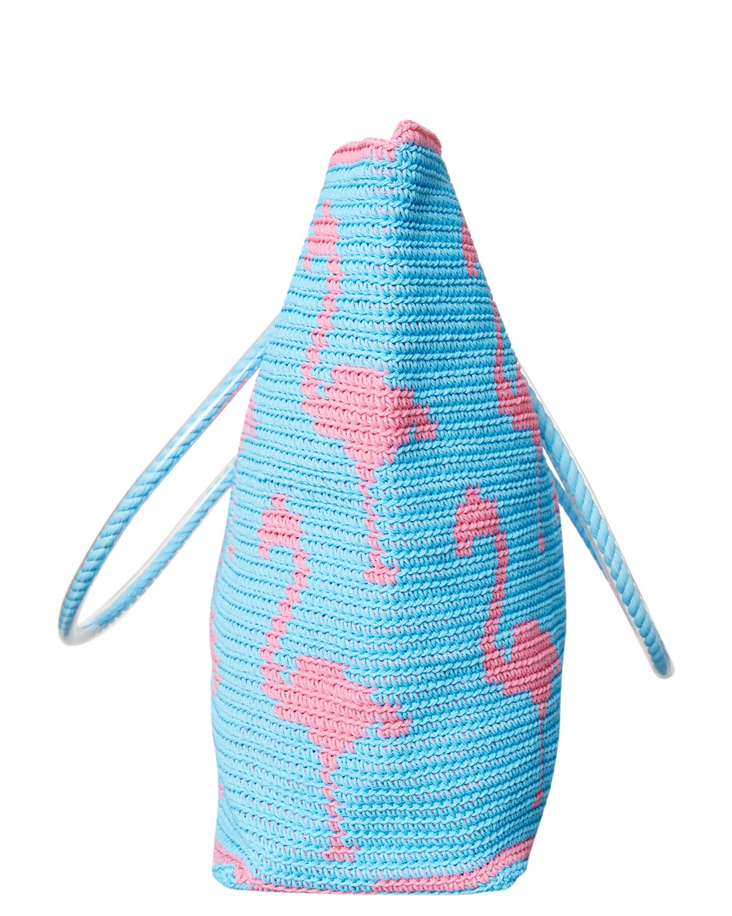 Skipping Girl Flamingo Carryall Bag Sky Blue Surfstitch