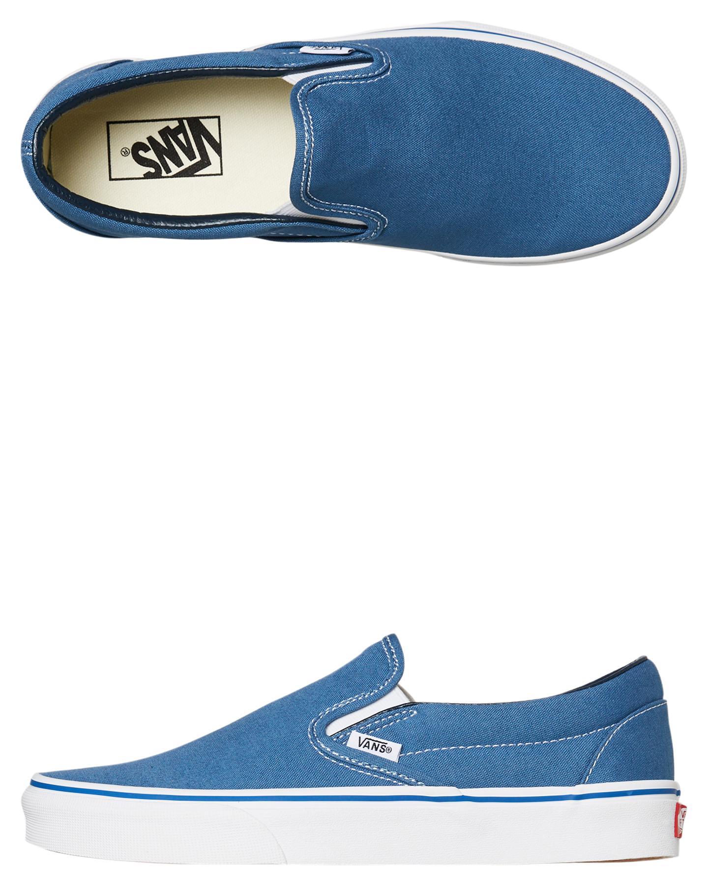 a6f1f07cb2aea1 Vans Womens Classic Slip On Shoe - Navy