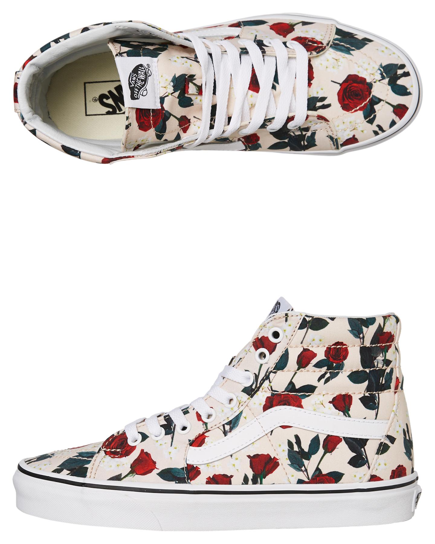 Vans Womens Sk8 Hi Shoe - Roses | SurfStitch