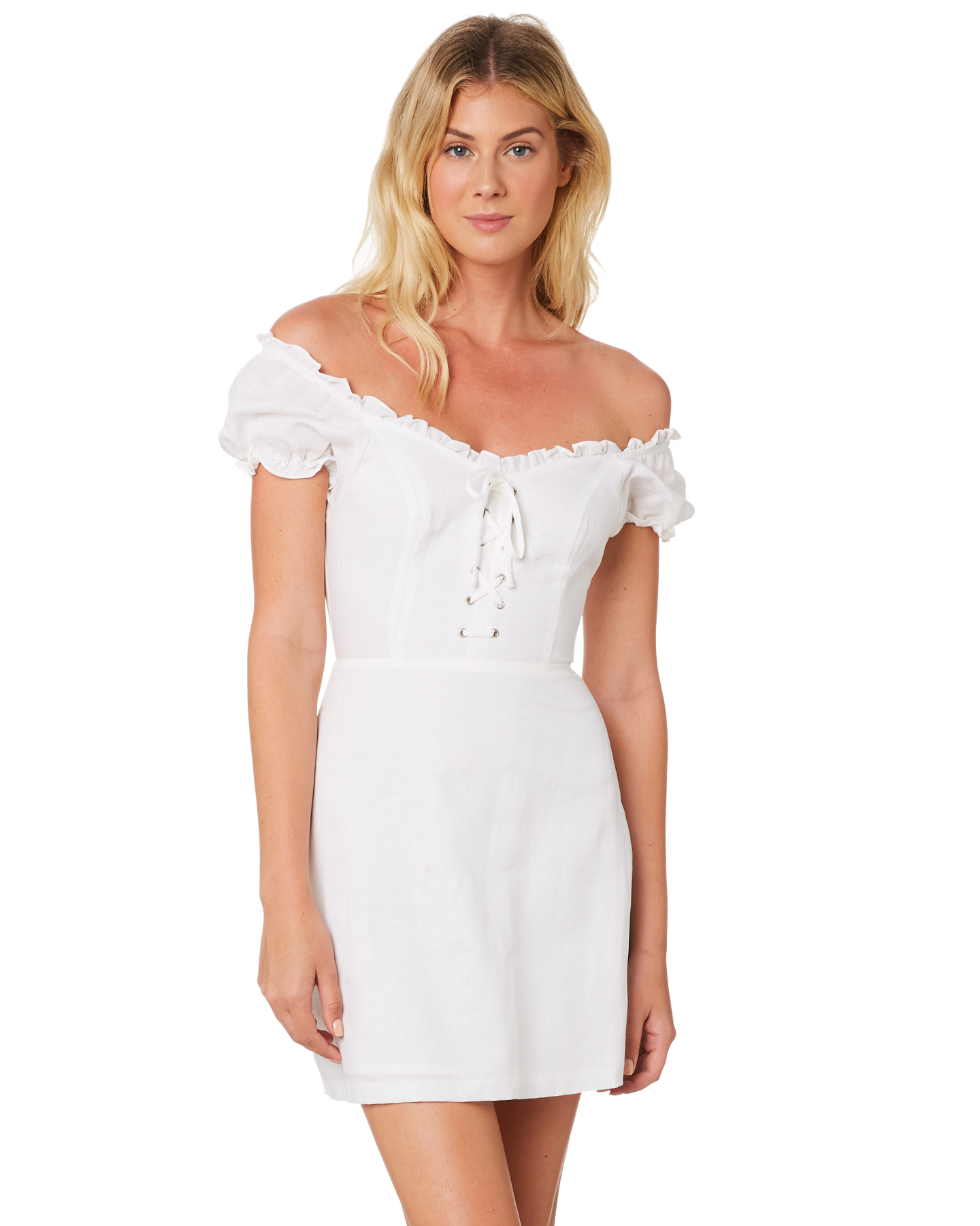 Lulu And Rose Womens Thelma Linen Dress White Surfstitch