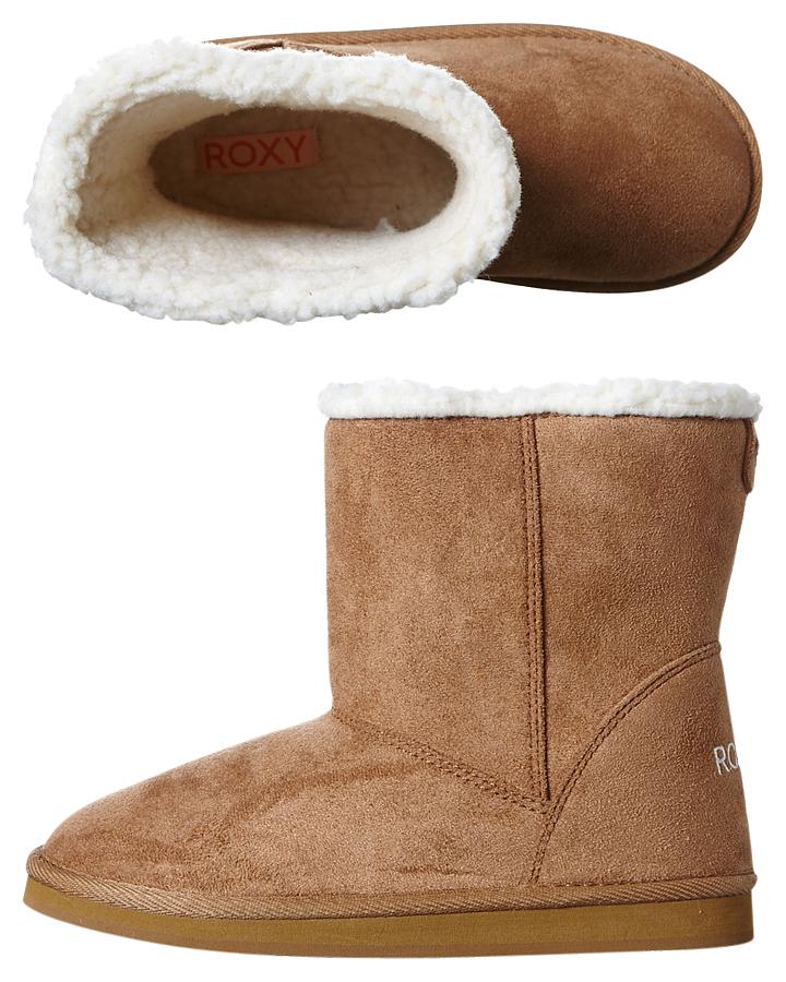 BROWN KIDS GIRLS ROXY UGG BOOTS - ARGB700021BRN ...