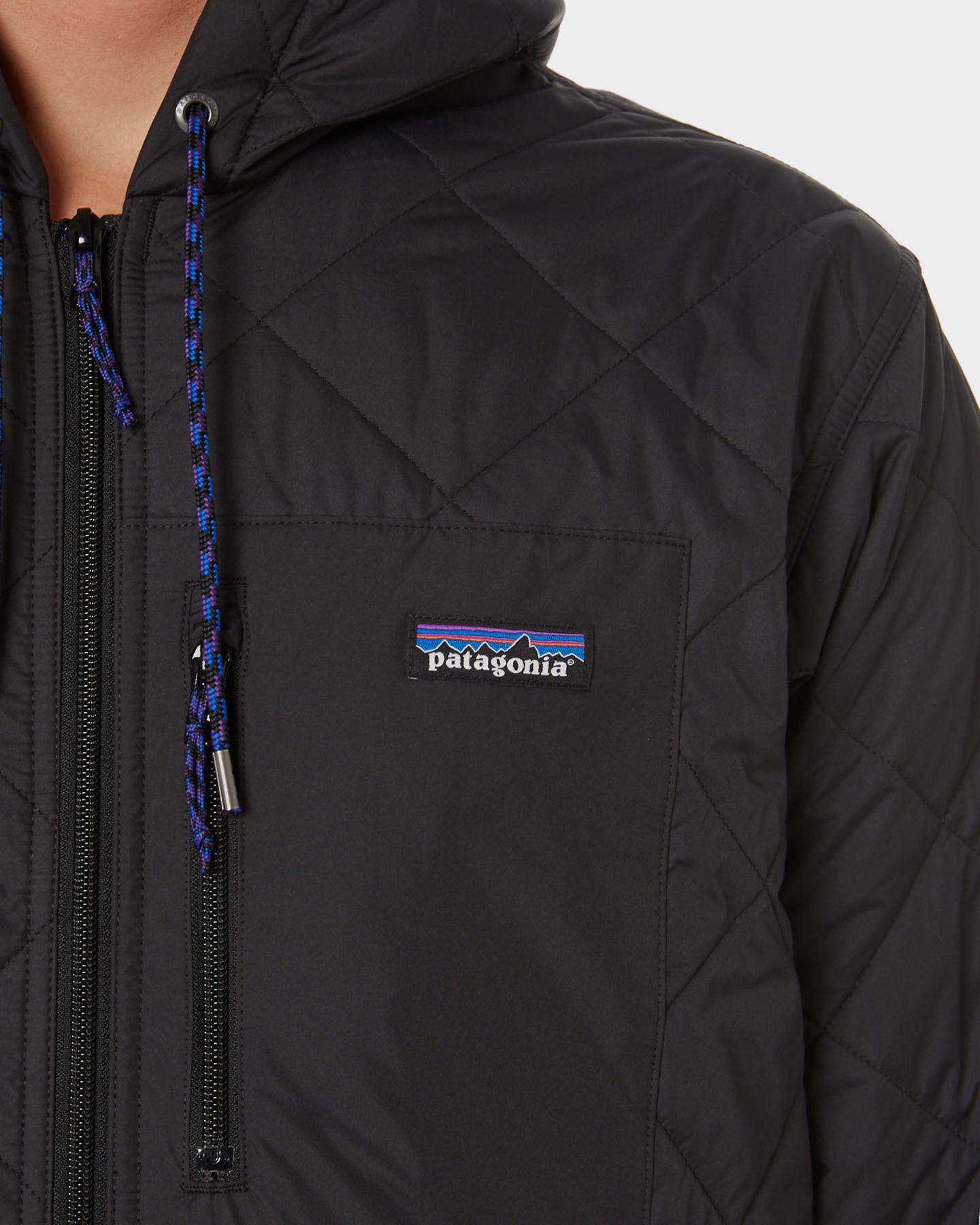 Patagonia Diamond Quilt Mens Bomber Jacket Black