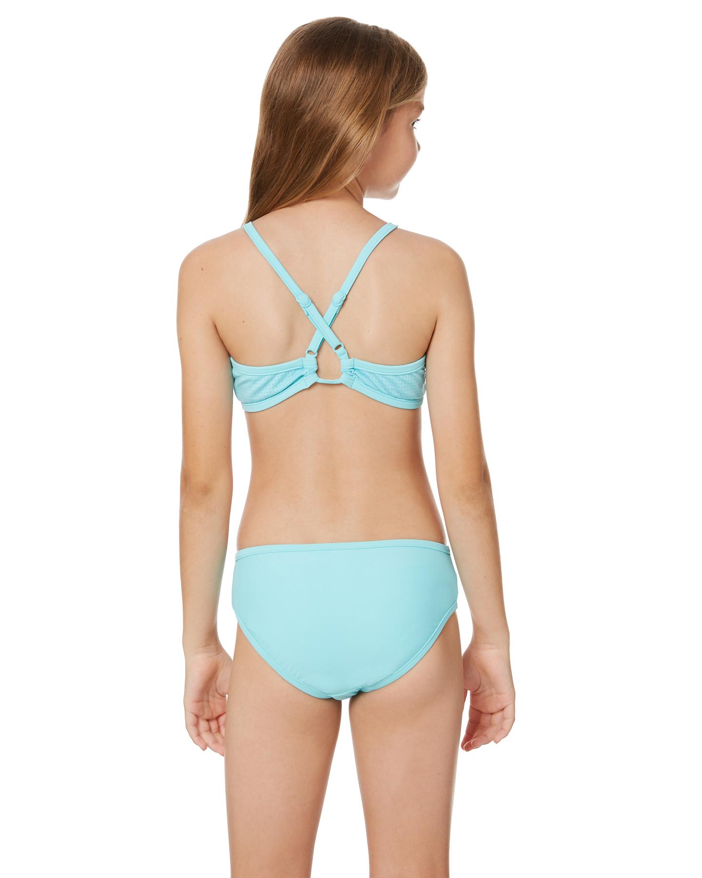 2ec4639aaaa0d Seafolly Girls Summer Essentials Apron Tankini - Aquamarine | SurfStitch