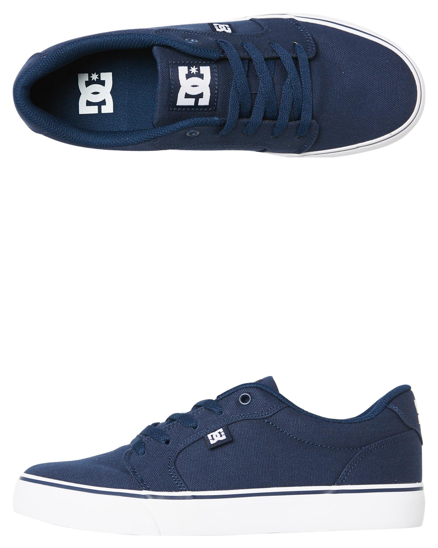 bc1e1a58a408 Dc Shoes Mens Anvil Tx Shoe - Navy White