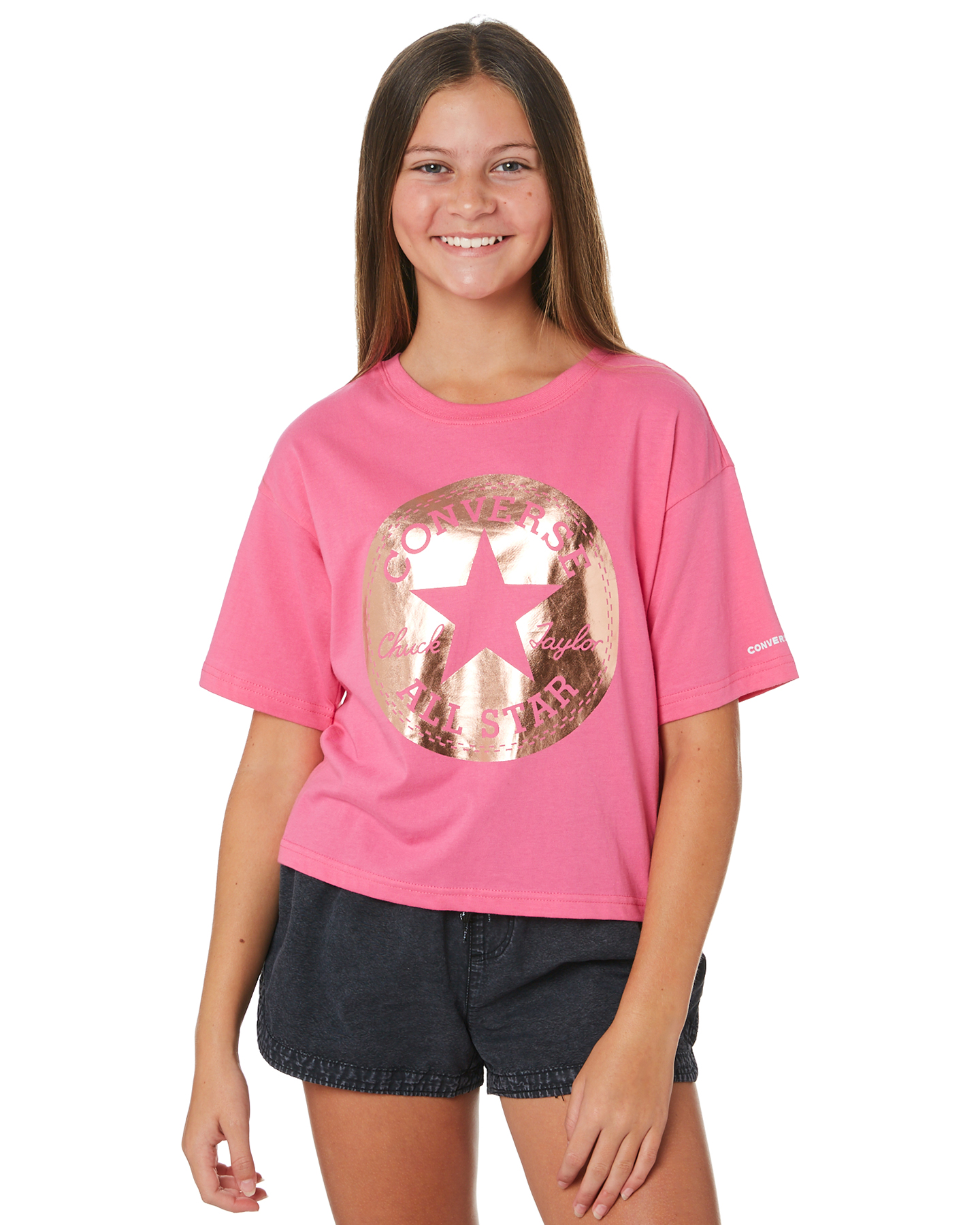 Converse Youth Girls Ctp Foil Boxy Tee