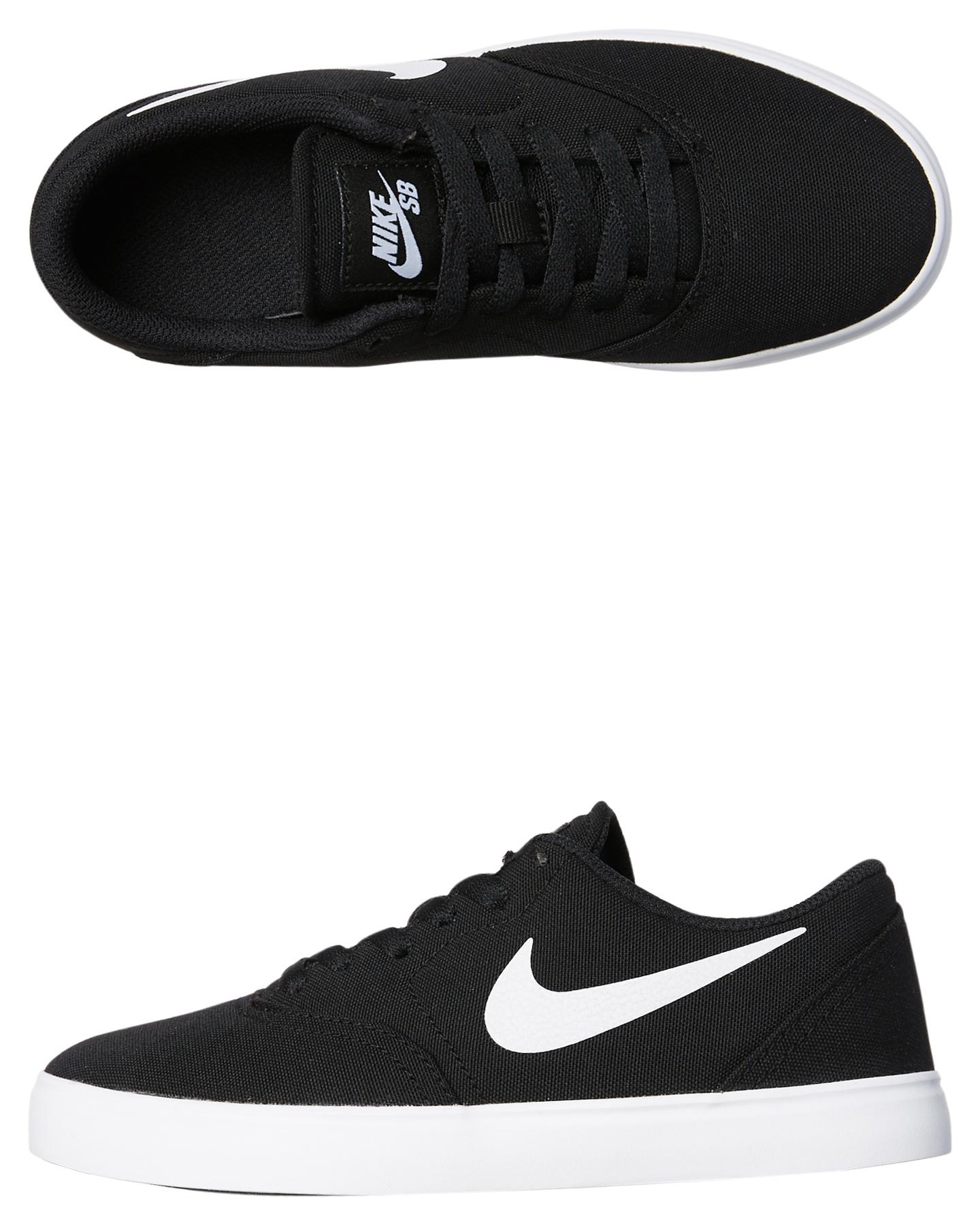 quality design d3e70 5b304 Nike Kids Teens Boys Sb Check Canvas Shoe - Black White | SurfStitch