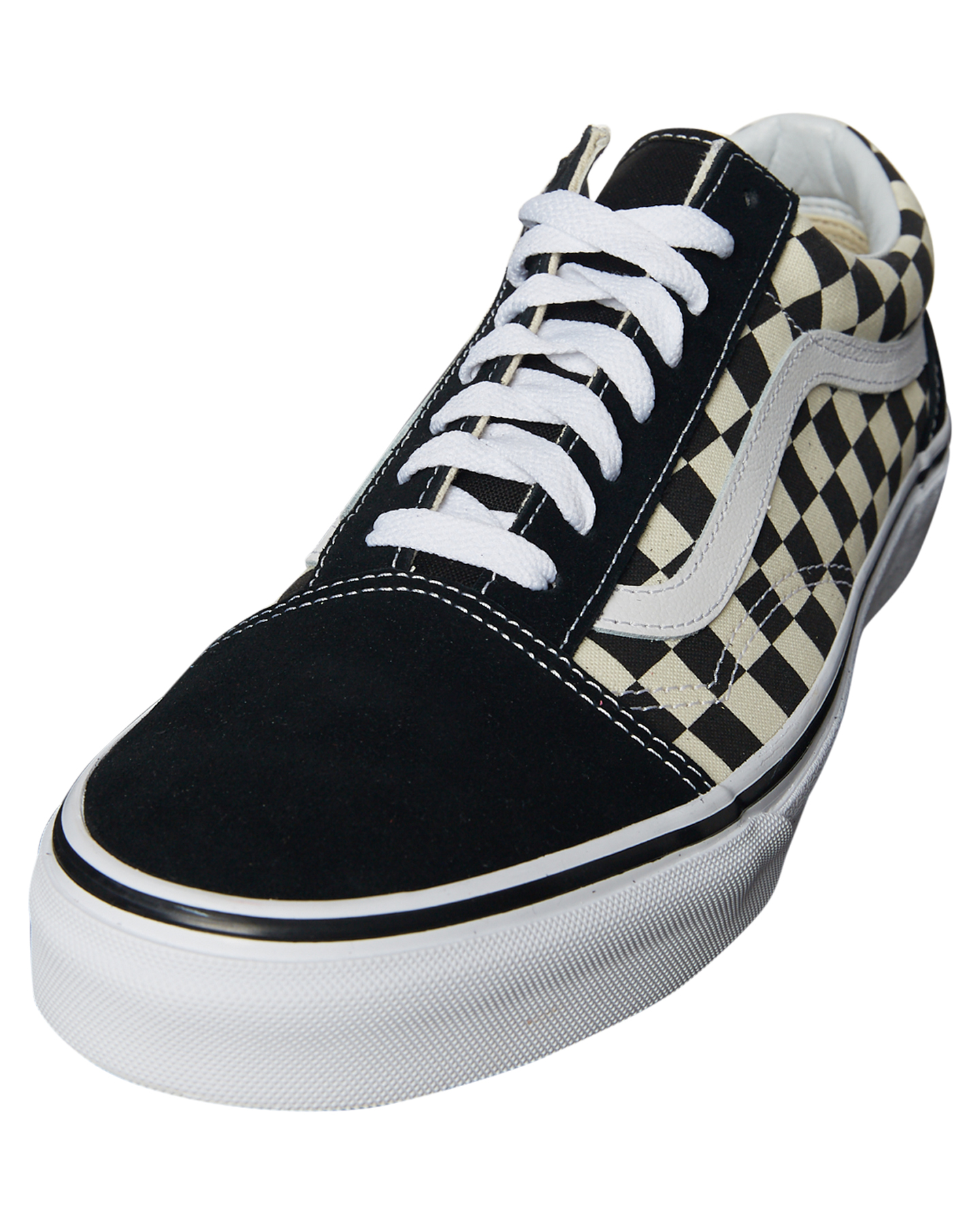 vans black and white mens