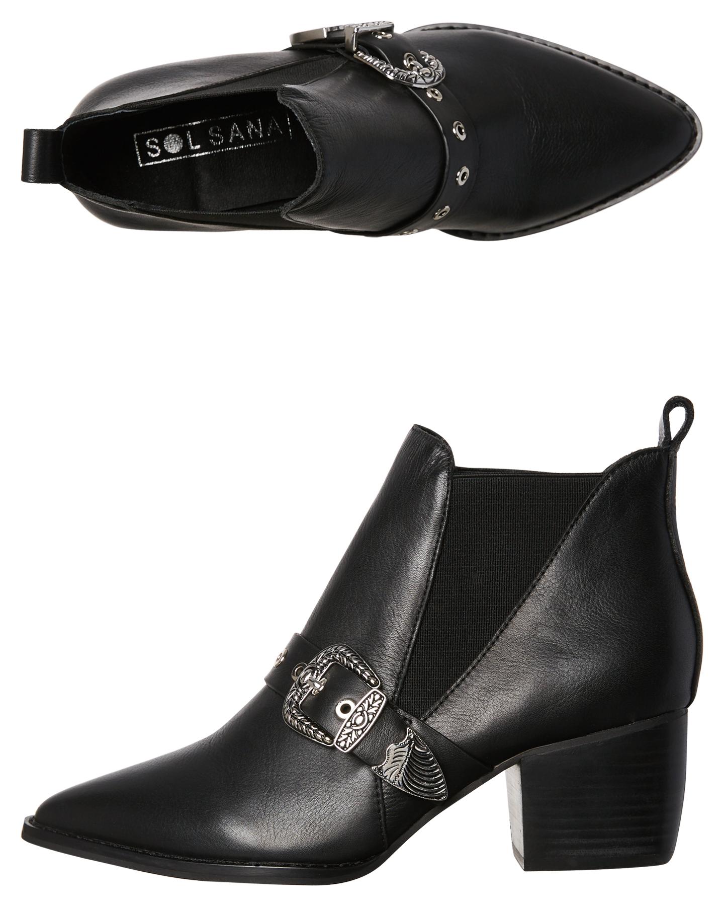 dcacfa20ff054d BLACK WOMENS FOOTWEAR SOL SANA BOOTS - SS181W409BLK ...