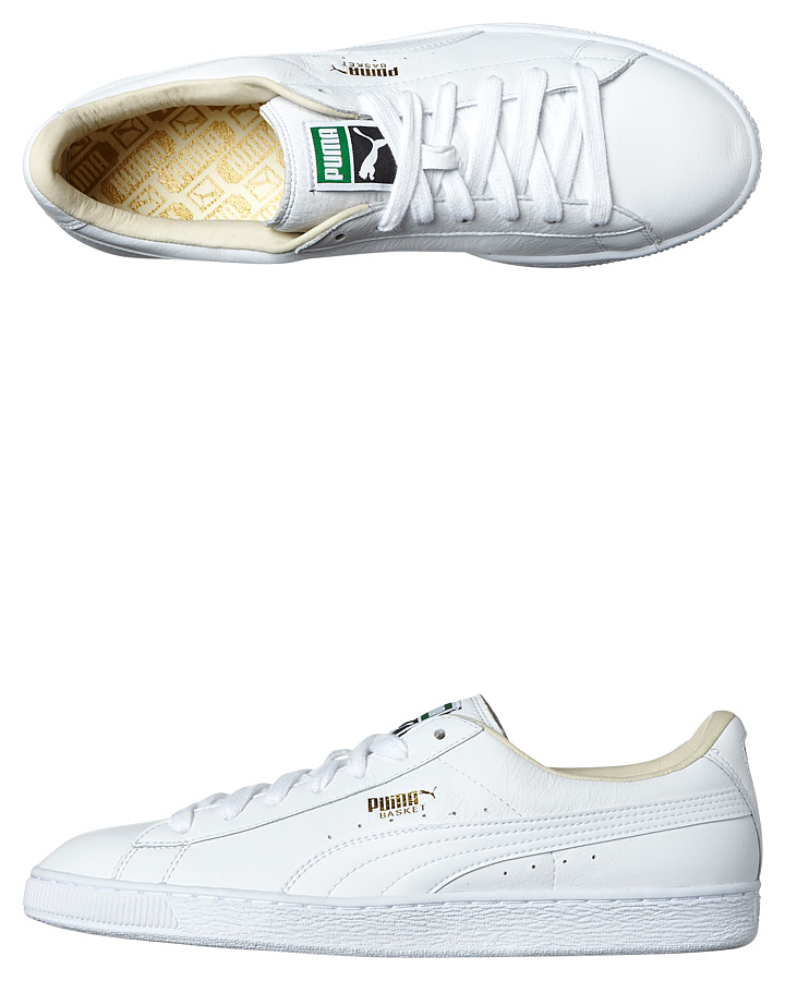 Puma Basket Classic Lfs Shoe White White | SurfStitch
