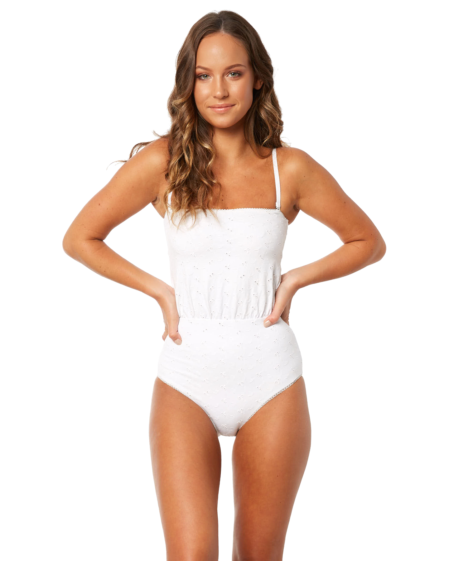 35ba5f58ec Zulu And Zephyr Delicate One Piece - White