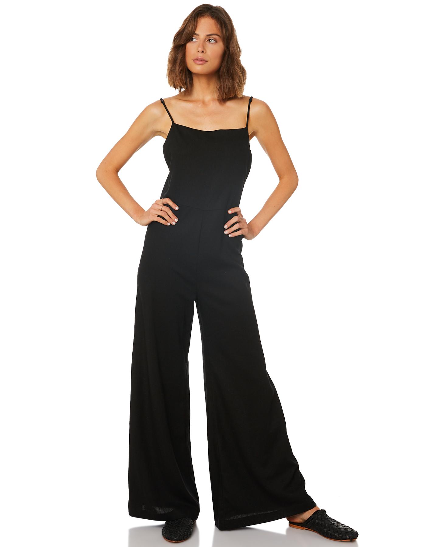 f0c617b63403 Rollas Super Sailor Linen Jumpsuit - Black