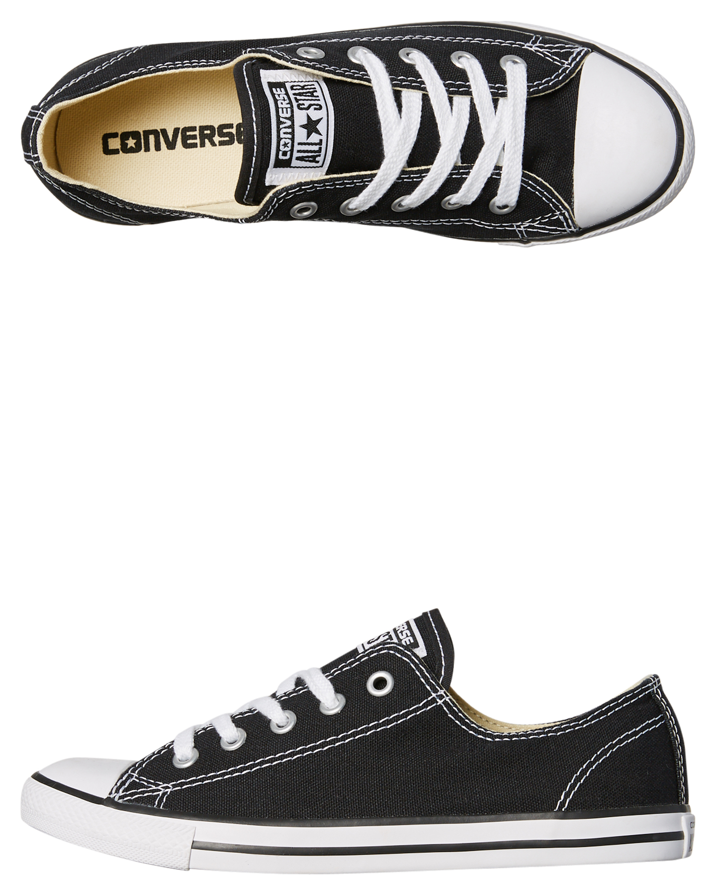 371c55b5a9d8 Converse Chuck Taylor Womens All Star Dainty Lo Shoe - Black ...