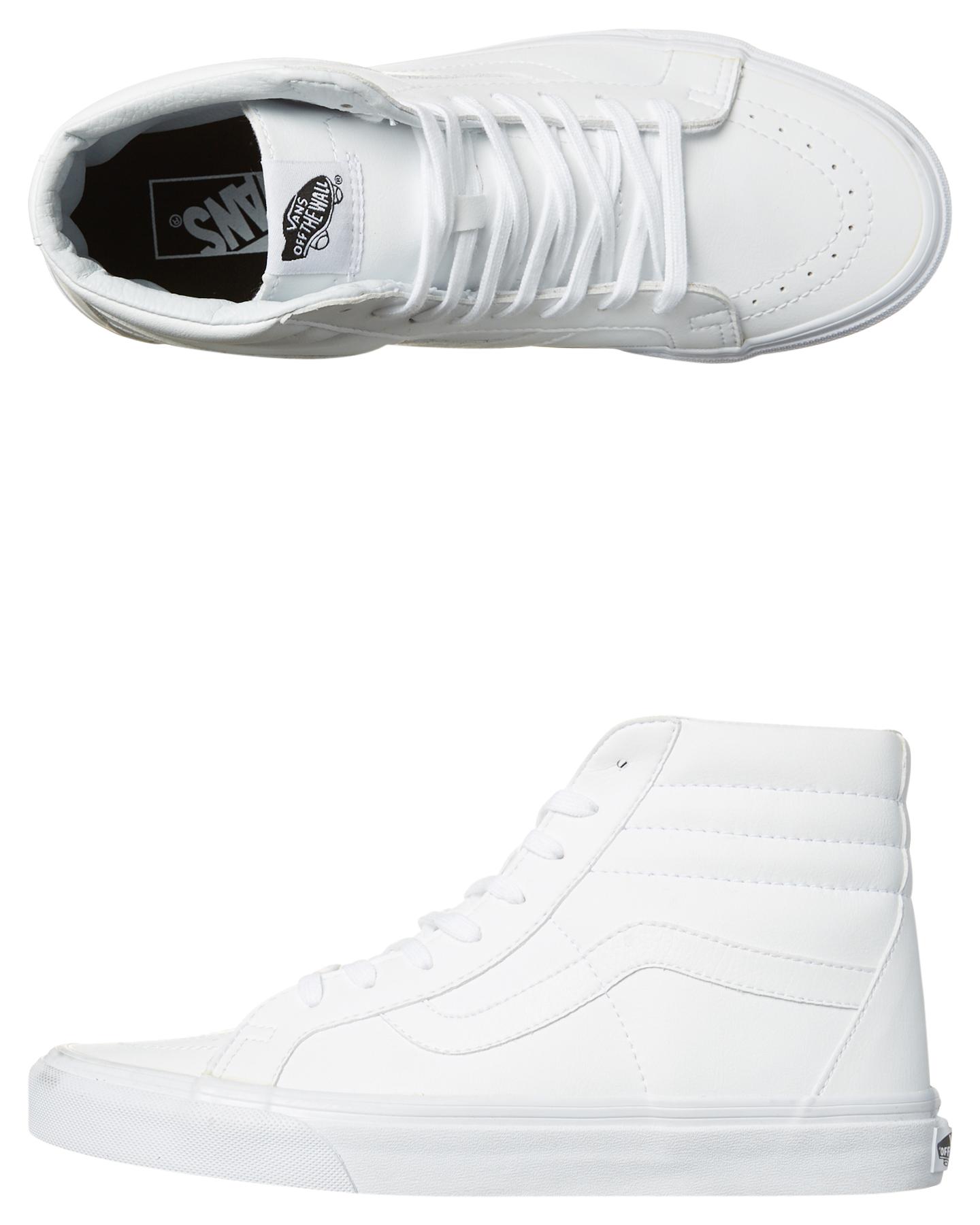 0bd9239f8cf Vans Mens Sk8 Hi Reissue Leather Shoe - White