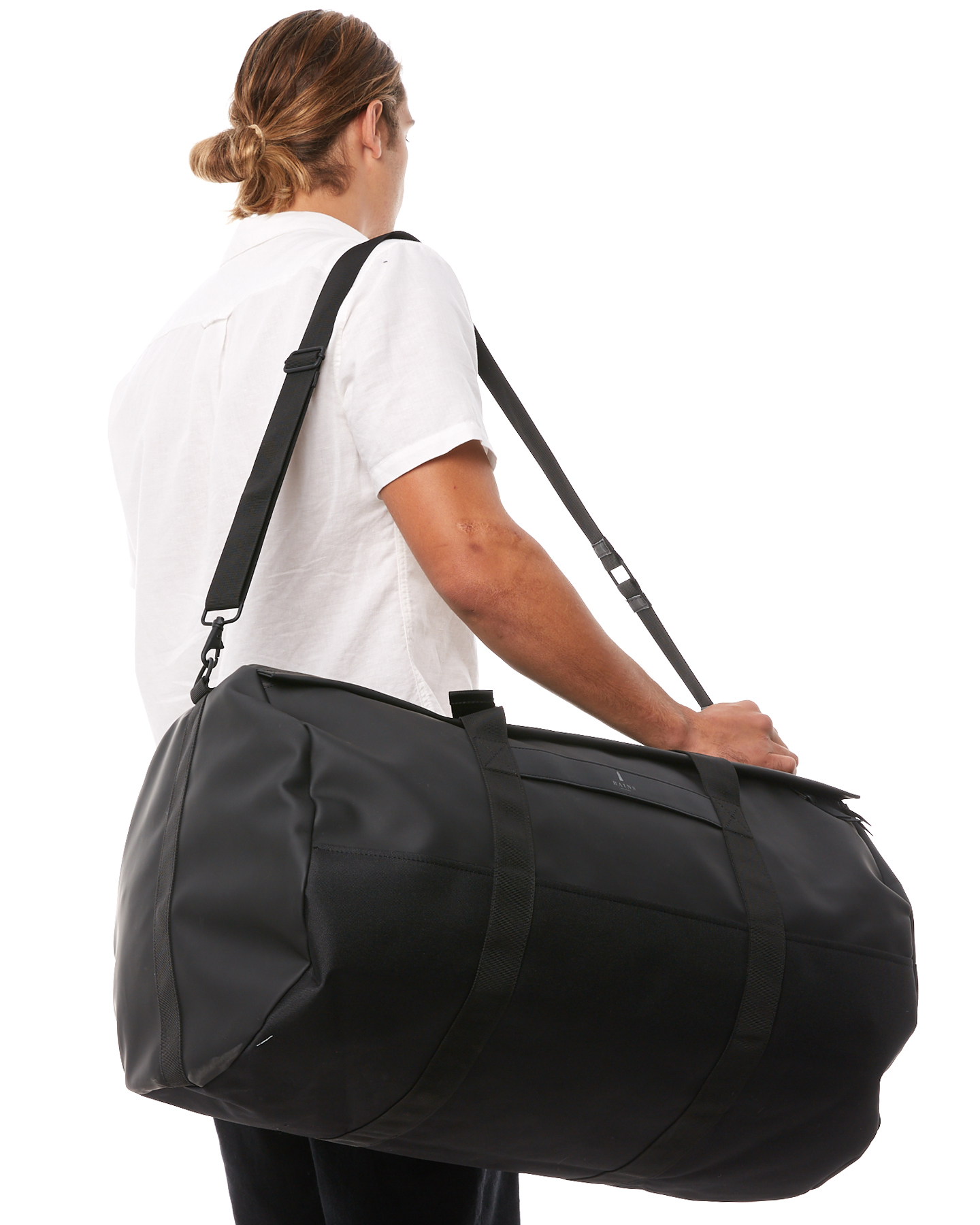 Black Mens Accessories Rains Bags Backpacks Rns1290blk