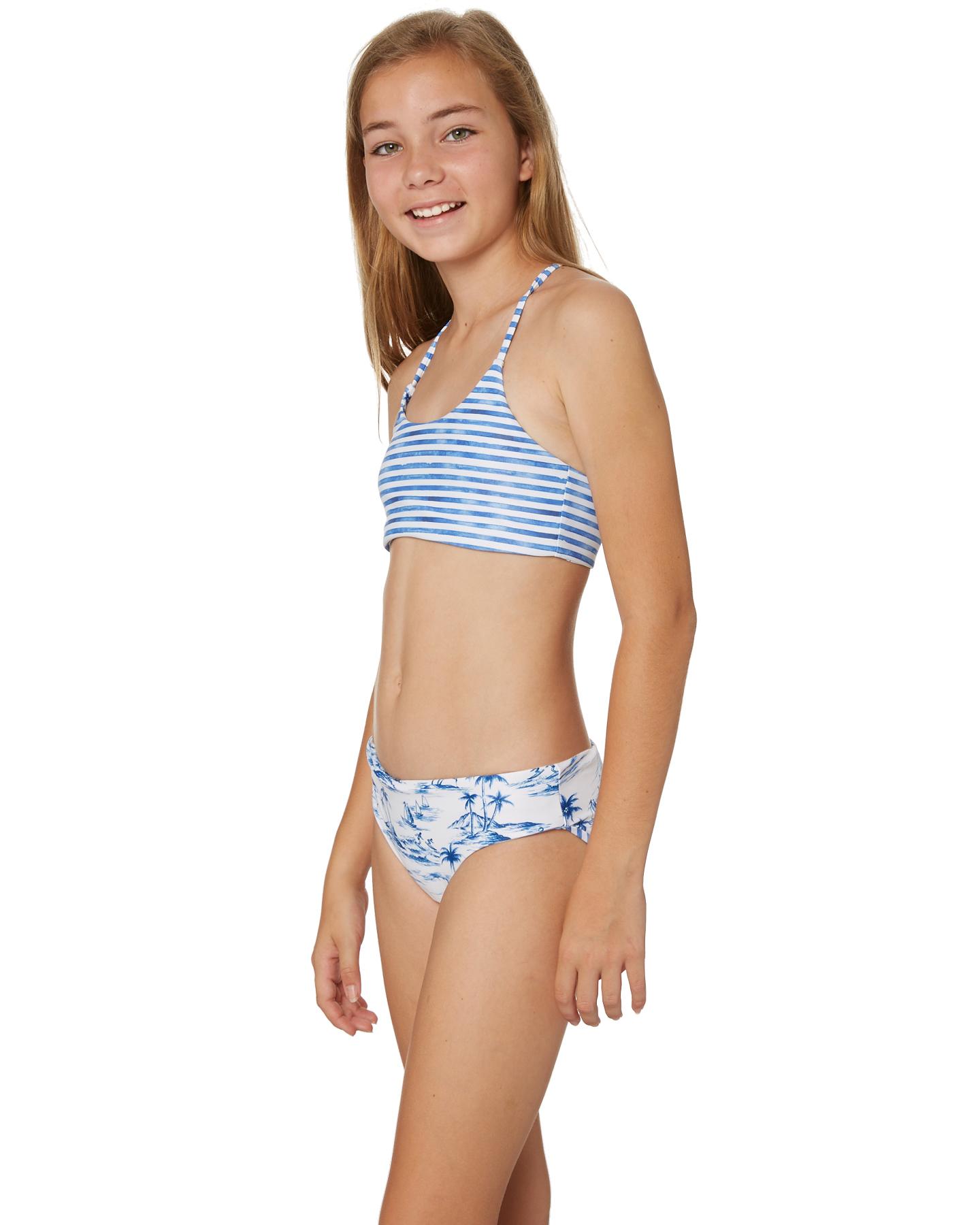 ea43d72c277c4 Seafolly Girls Tropical Vibes Reversible Tankini - White Blue ...