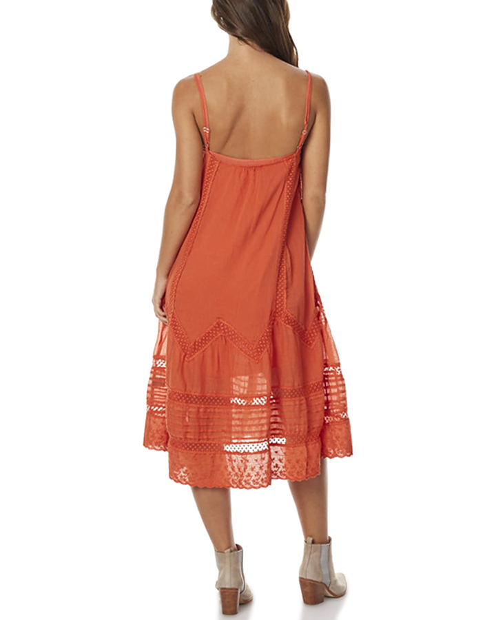 Auguste Old Days Womens Day Dress - Burnt Orange