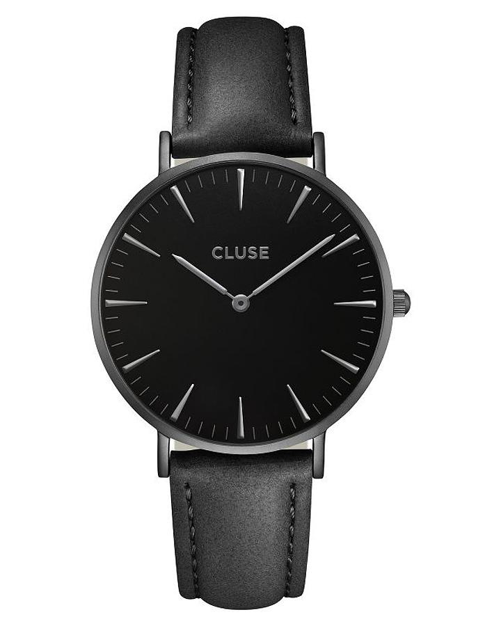 cluse la boheme leather watch full black surfstitch. Black Bedroom Furniture Sets. Home Design Ideas