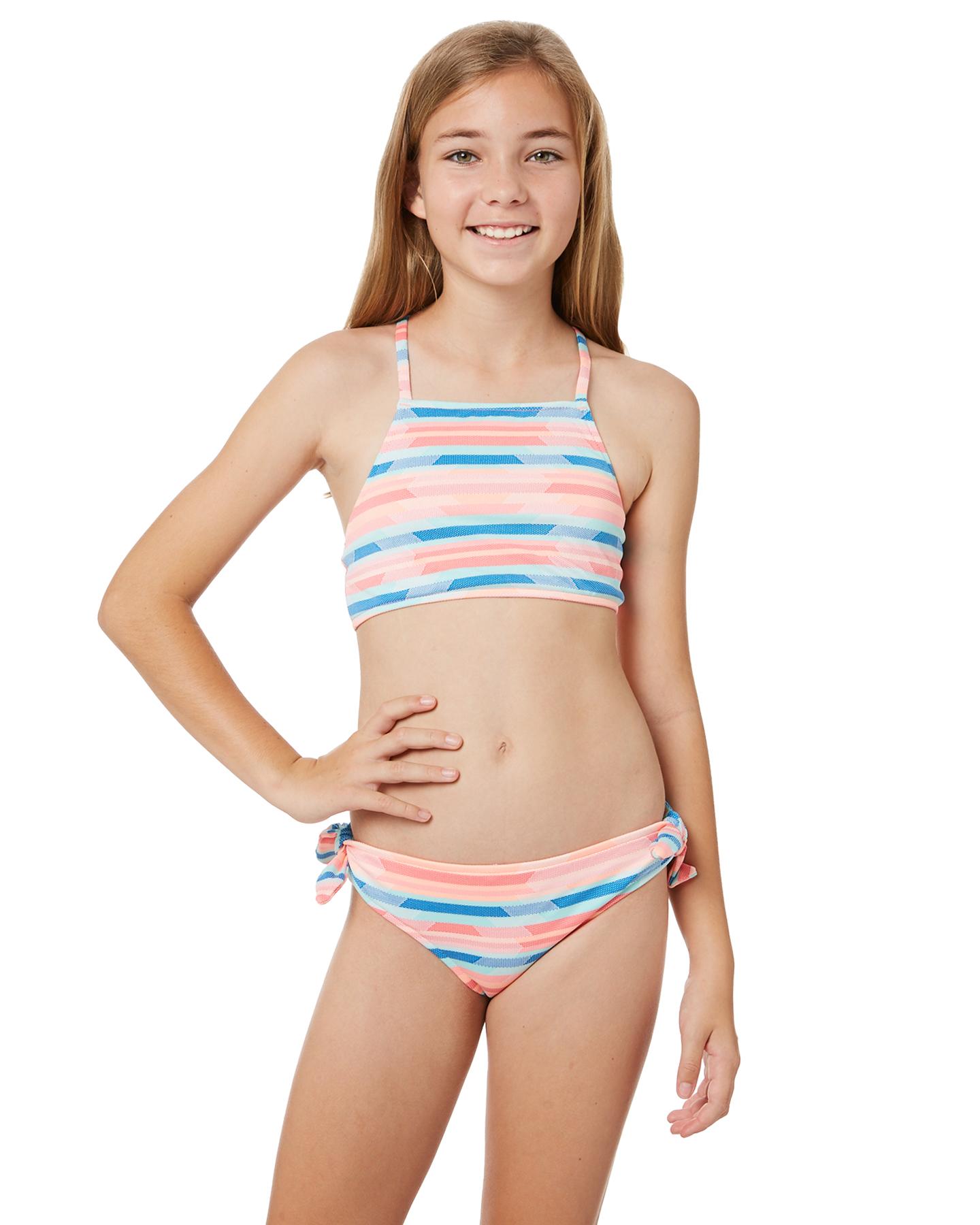 0b173b54c8363 Seafolly Girls Maharaja Stripe Tankini - Multi Geo | SurfStitch